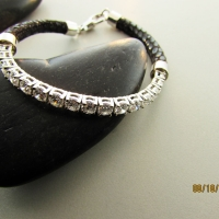 Converting-a-tennis-bracelet-with-a-little-leather-and-white-gold