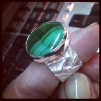 Malachite & sterling silver ..... Green is good
