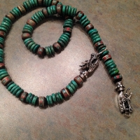 My favorite beads with a dragon clasp