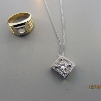 White Custom Pendant from Original Engagement Ring East Towne Jewelers