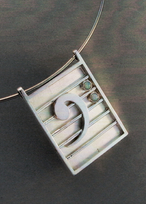 Bass Clef Custom Jewelry Designed Pendant | East Towne Jewelers