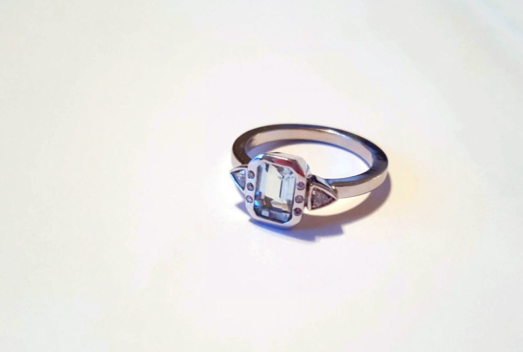 Blue Topaz and Diamond Ring | East Towne Jewelers