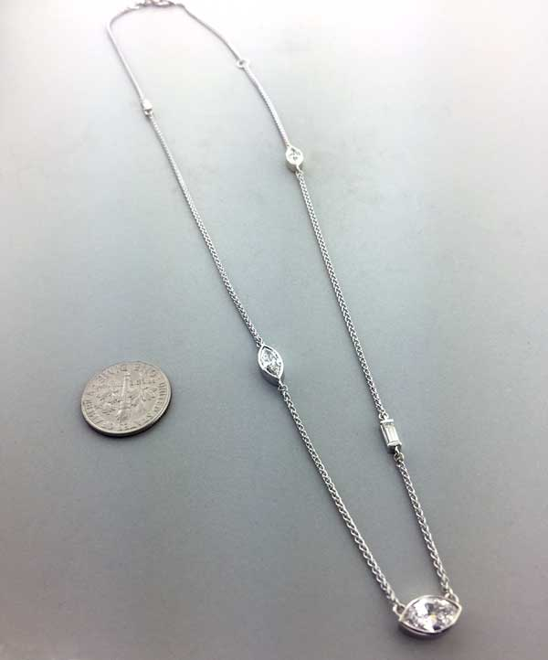 Custom Diamond Necklace Chain with Different Diamonds East Towne Jewelers Mequon WI