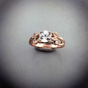Custom Rose Gold Diamond Engagement Ring East Towne Jewelers Mequon WI