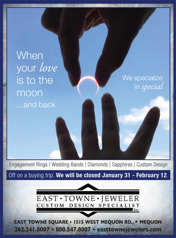 East Towne Jewelers M Magazine 0218 Custom Jewelry
