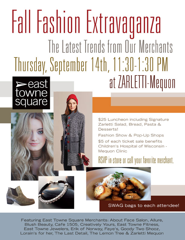 East Towne Square | Fall Fashion Event September 2017