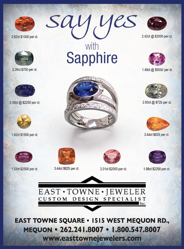 Every Color Sapphires | September 2017 | East Towne Jewelers