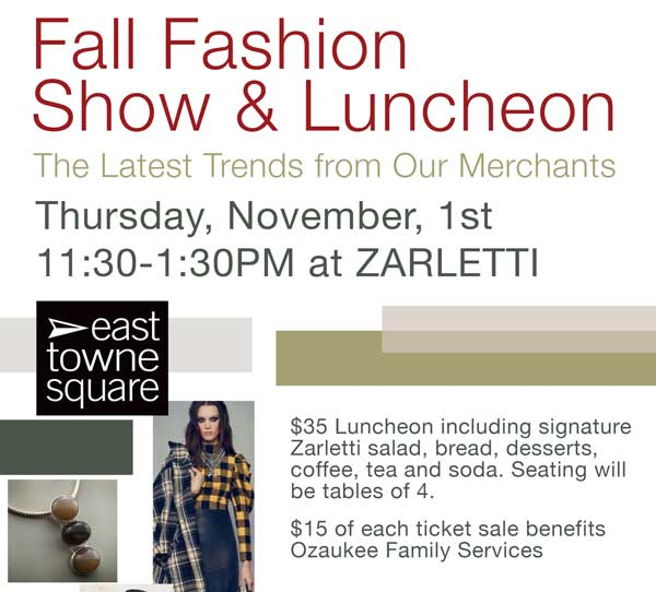 Fall Fashion Show Luncheon East Towne Square 2018 | East Towne Jewelers | Mequon WI