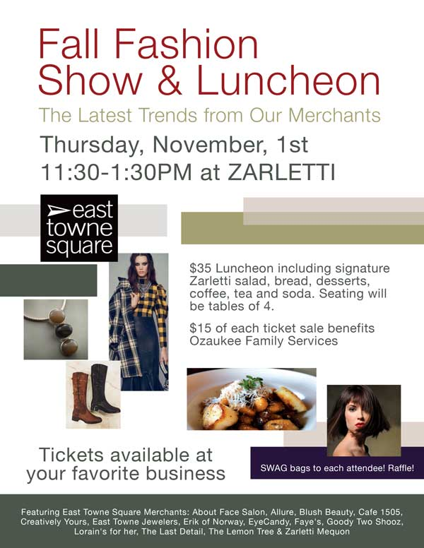 Fall Fashion Show Luncheon East Towne Square 2018   East Towne Jewelers   Mequon WI