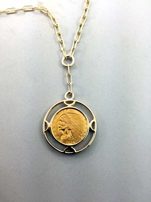 Gold Coin Mounted in New Jewelry East Towne Jewelers Mequon WI