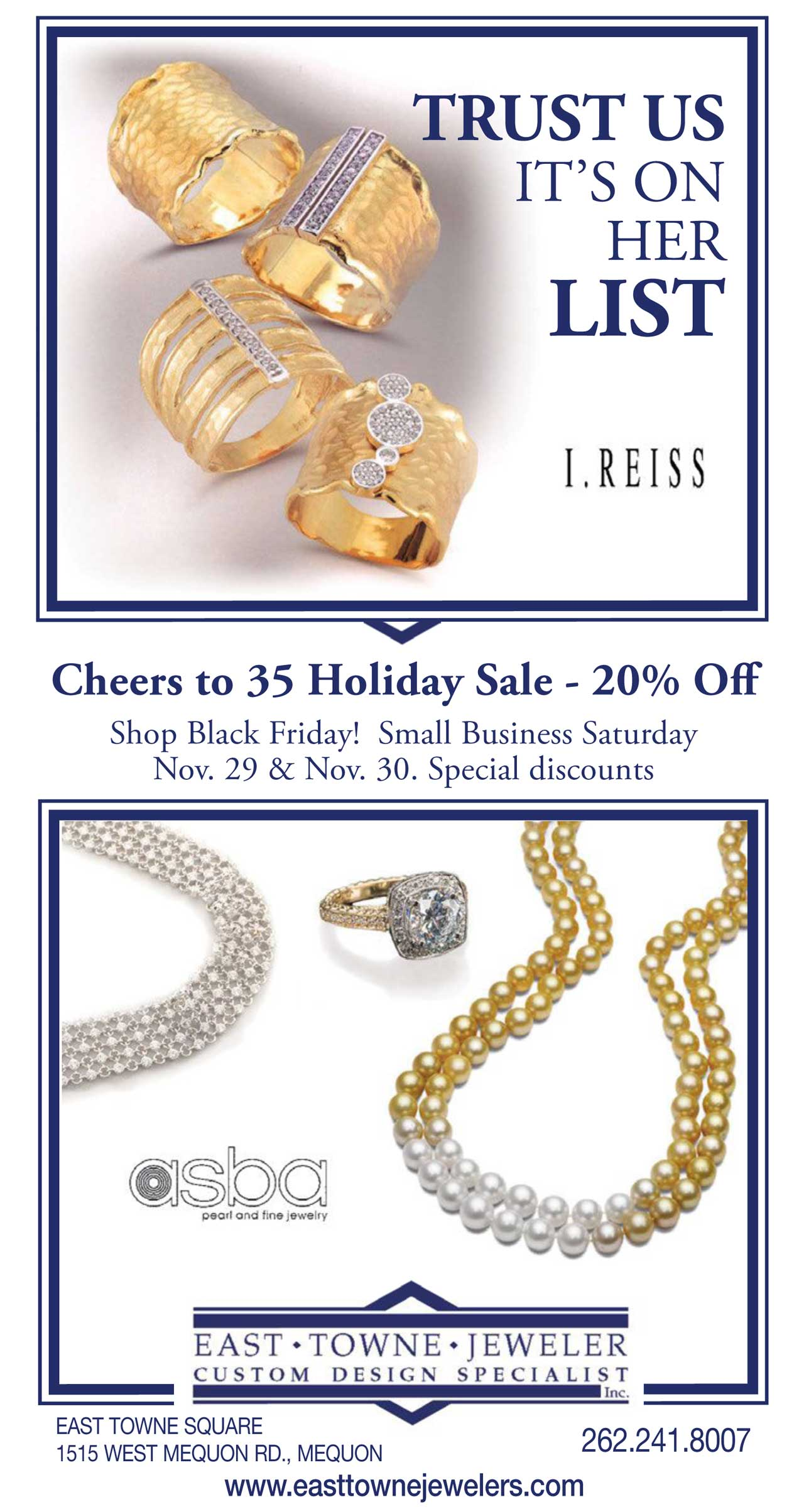 Holiday Sale 2019 | East Towne Jewelers | Mequon, WI
