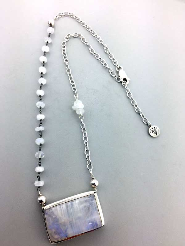 Redesigned Necklace for the Moonstone Centerpiece East Towne Jewelers Mequon WI