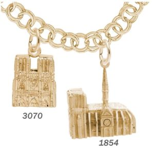 Rembrandt Charms Notre Dame Cathedral Rememberance Charm | East Towne Jewelers | Mequon WI