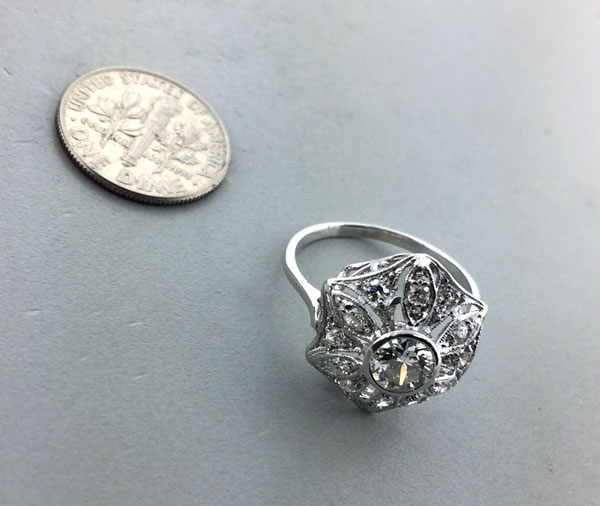 Ring crushed by a car repaired | Heirloom Jewelry Restoration | East Towne Jewelers | Mequon WI
