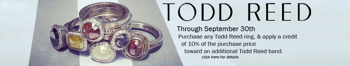Special offer on todd reed rings for Todd reed