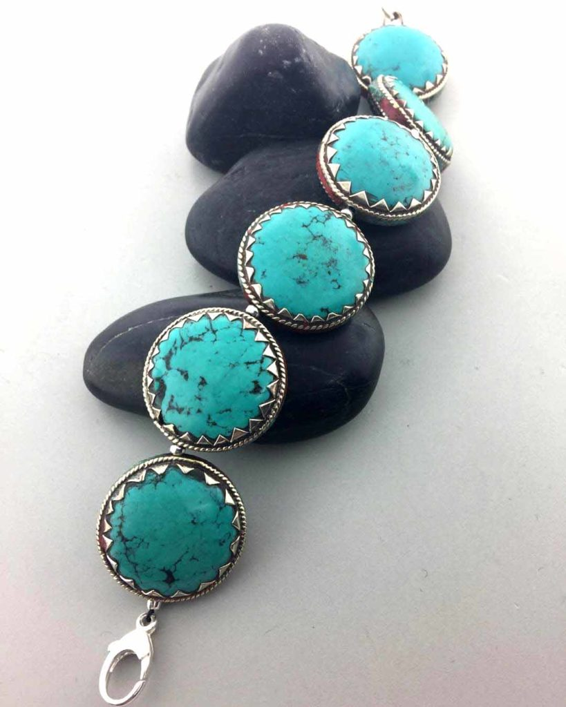 Turquoise from Tibet Bracelet East Towne Jewelers