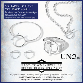 We're Back 30% off Second Item discount | East Towne Jewelers