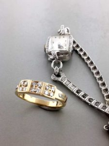 Yellow Gold Diamond Ring Custom Made from Old Watch Diamonds East Towne Jewelers