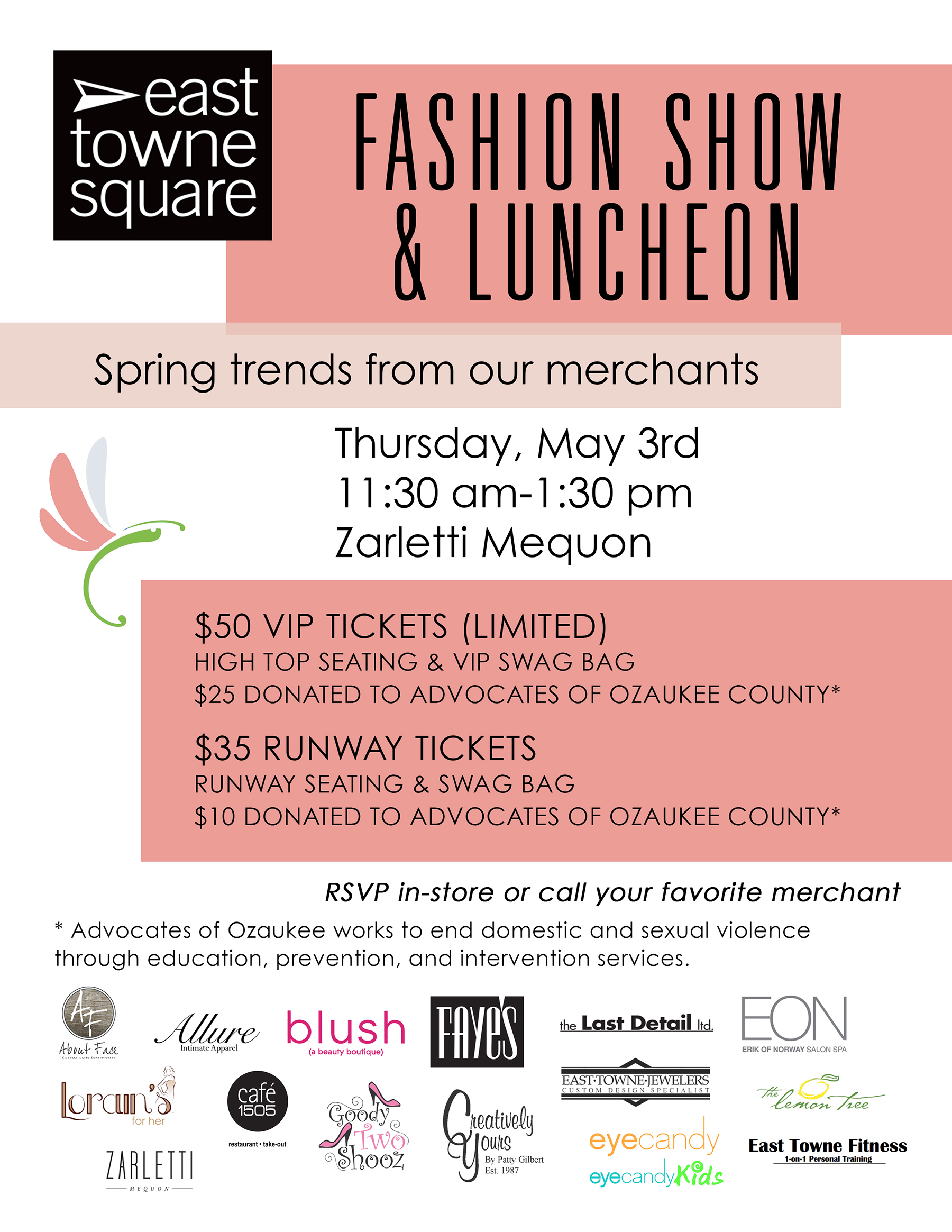 East Towne Square Mall | Fashion Show & Luncheon | East Towne Jewelers